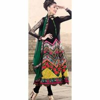 Fancy Georgette Churidar Kameez