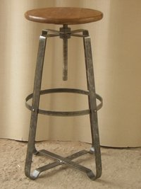 Iron Tall Spin Up Stool