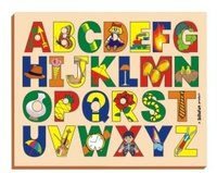 Picture On Alphabet Tray With Knobs