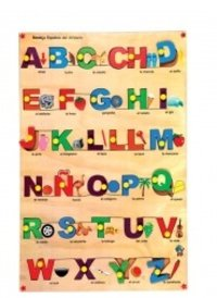 Spanish Alphabet Picture Tray