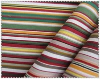 Fashion Printed Stripes Cotton Canvas Fabrics