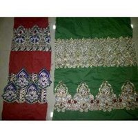 Designer Embroidery Borders Fabric