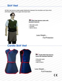 Lead Apron Skirt Vest
