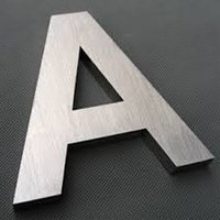 Stainless Steel Brush Letters
