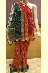 Cotton Bandhini Sarees