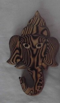 Wall Mounted Wooden Lord Ganesha