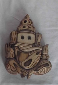 Wooden Lord Ganesha Wall Mounted