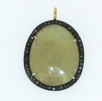 Gemstone Diamond Pendant