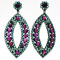 Emeralds and Ruby Earrings