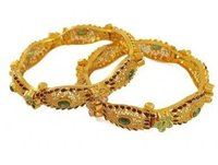 22K Gold Antique Finished Bangles