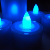 Blue Tea Light LED Candles