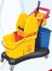 Double Bucket Mop/Wringer Trolley
