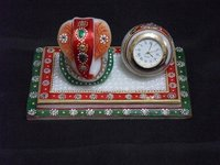 Marble Chokor Table Ganesh Watch
