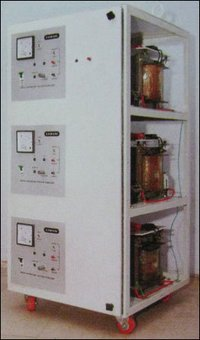 Three Phase Servo Controlled Voltage Stabilizer