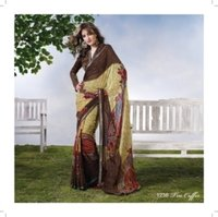 True Coffee Saree With Blouse