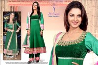 Party Wear Green Ladies Suits