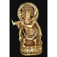 Ganesh Standing Four Arms With Flute