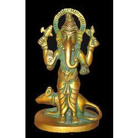 Ganesh Standing With Rat