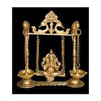 Ganesh Sitting On Swing
