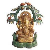 Ganesh Sitting Under Mango Tree