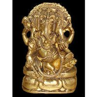 Ganesh Sitting Three Face