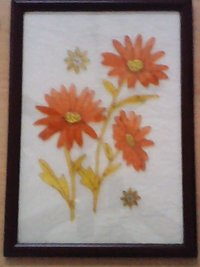 Glass Paintings - Flower