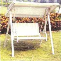 White Swing Bench