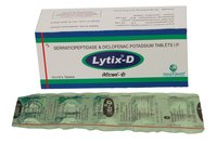 Lytix-D (Serratiopeptidase 10mg + Diclofenac Potassium 50mg)