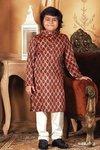 Poly Dupion Stripes Suit