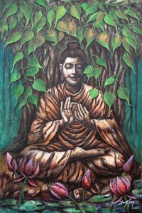Hand Made Painting (Buddha)