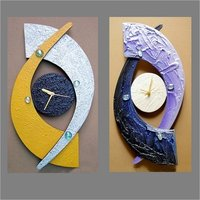 Handicraft Wooden Clock