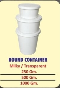 Round Plastic Packaging Containers