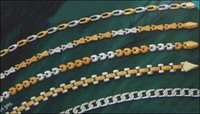 Two Tone Ladies Gold Chains