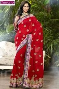 Designer Saree With Chandary Blouse