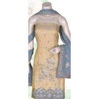 Women Semi Chanderi Suit