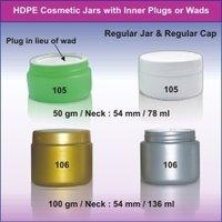 HDPE Cosmetic Jars