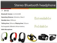 Stereo Bluetooth Headset (Foldable and Extendable)