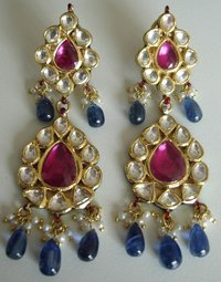 Kundan Jewellery on Silver KM0092