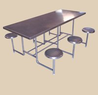 Stainless Steel Six Seater Dining Table
