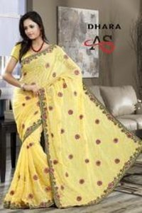 Light Yellow Designer Saree