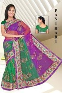 Double Shaded Embroidered Saree