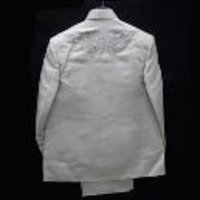 White Linen Gents Wedding Suit