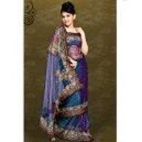 Designer Shimmer Net Saree Fabric