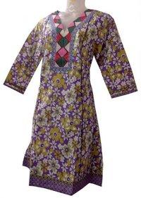 Designer Jaipuri Printed Cotton Kurti