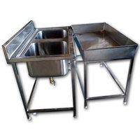 Stainless Steel Two Unit Sink