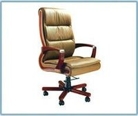 Office High Back Wooden Arm Chair