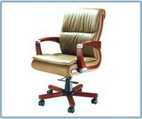 Office Medium Back Wooden Arm Chair