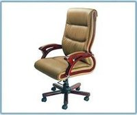 Wooden Arm Office High Back Chair