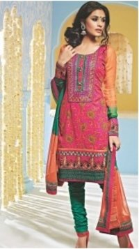 Traditional Party Wear Cotton Salwar Suit