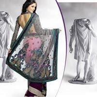 Designer Net Saree